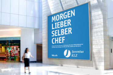 Grossplakat Klassische Werbung Kommunikation Grafikdesign Kommunikationsagentur Zürich Corporate Design