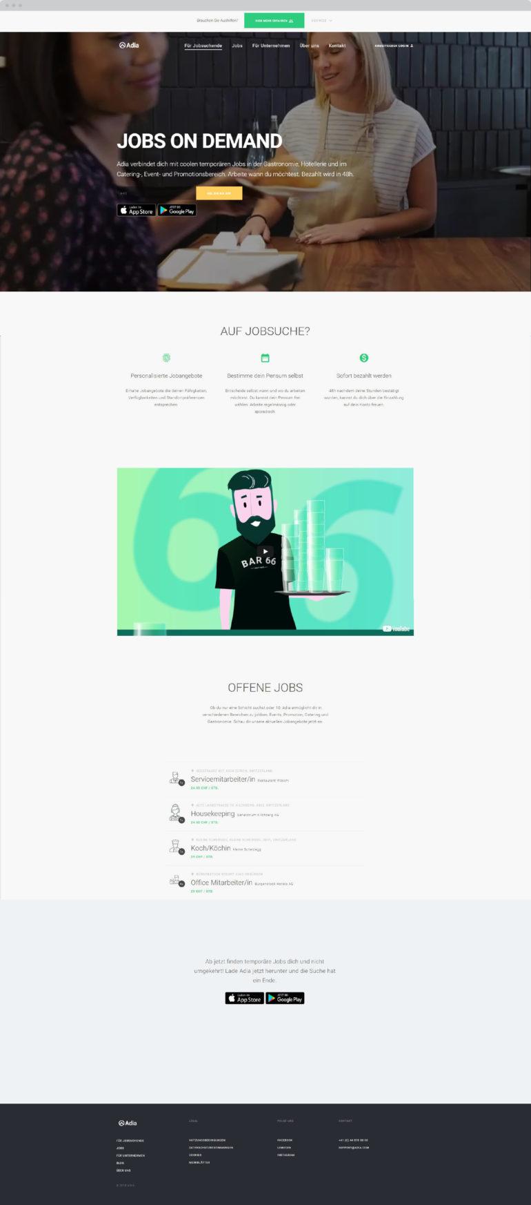 Webseite Webdesign Digitale Kommunikation B2C Werbeagentur Zürich