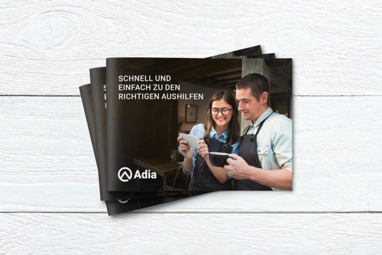 Corporate Design Print Kommunikation Agentur Zürich Full Service Salesfolder Konzeption