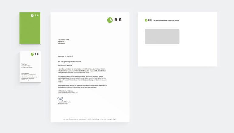 Briefschaft Corporate Design Print Kommunikation Full Service Agentur Zürich Visitenkarte Rebrand