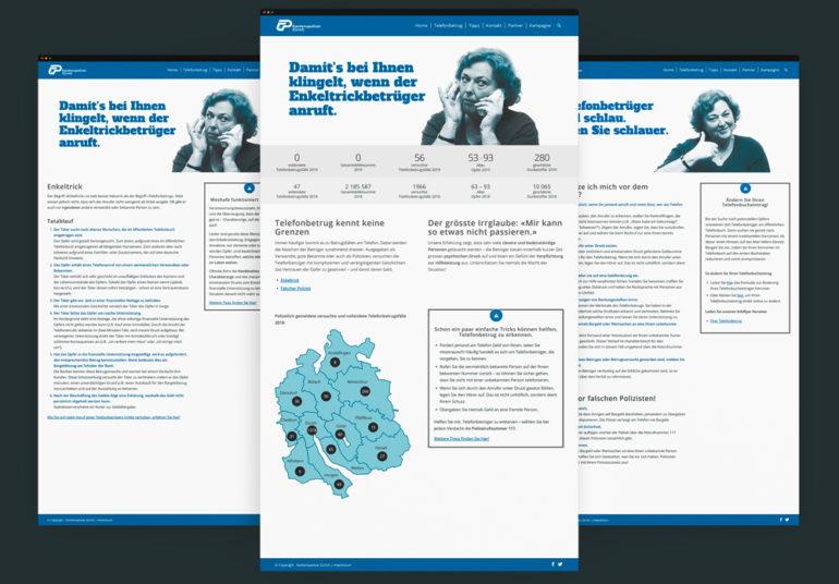 Full Service Agentur Zürich Webseite Webdesign Prävention Online Kampagne