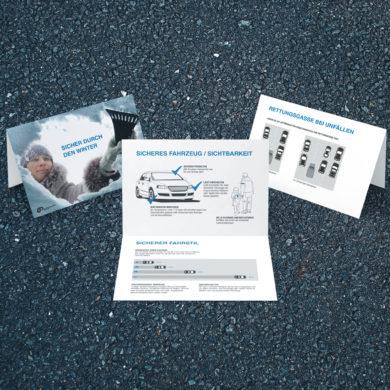 Klassische Werbung Flyer B2C Kommunikation Prävention Print Konzeption