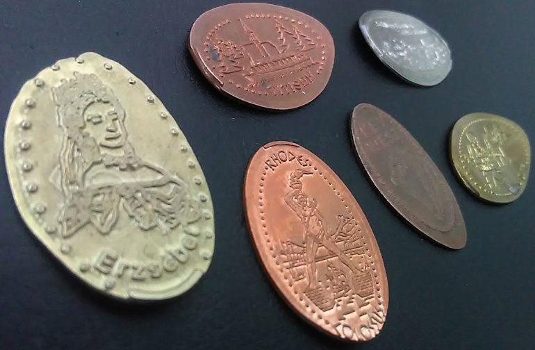 Souvenirmünzen, Quetschmünzen, Souvenir-Medaille Elongated Coins
