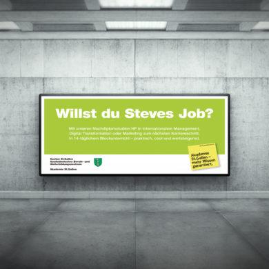 Therefore Werbeagentur Zürich Plakat Kampagne Headline Logo Branding Slogan Auftrag Werbung mit Wirkung Kommunikationsagentur