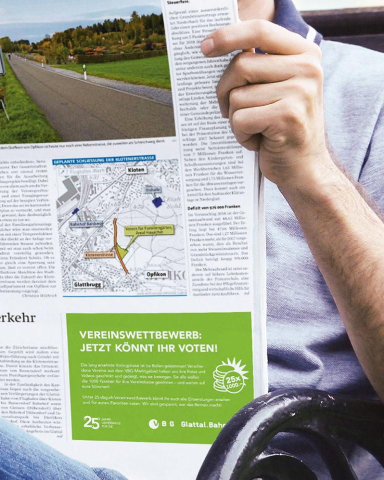 Inserat Klassische Werbung Zeitung Branding Corporate Identity Kommunikation Print