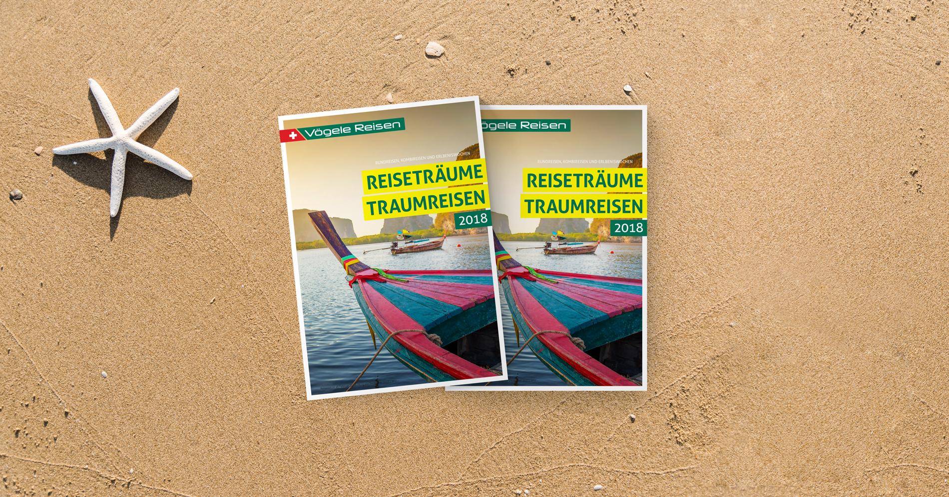 Reisekatalog Corporate Publishing Grafikdesign Konzeption Kommunikation Agentur Zürich
