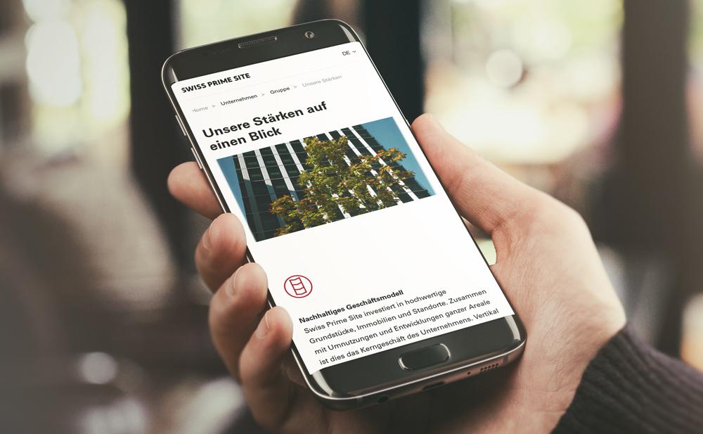 Mobile Digital Website Internet Homepage Redesign Design Struktur Content Online Auftrag Responsive Agentur Kommunikation Schweiz Werbung