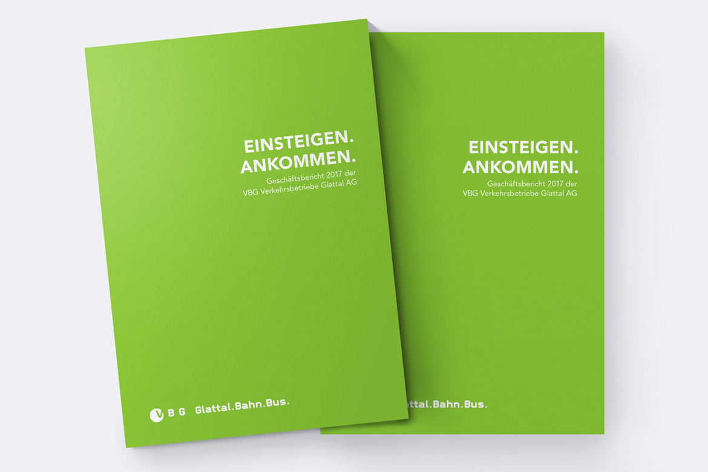 Corporate Communication Geschäftsbericht Verkehrsbetrieb Print Kommunikationsagentur Zürich