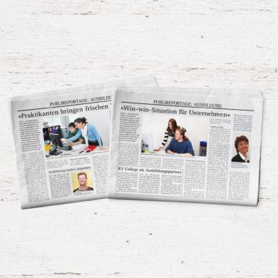 Publireportage Zeitung Artikel Kommunikation Content Kommunikationsagentur Zürich_Corporate Publishing