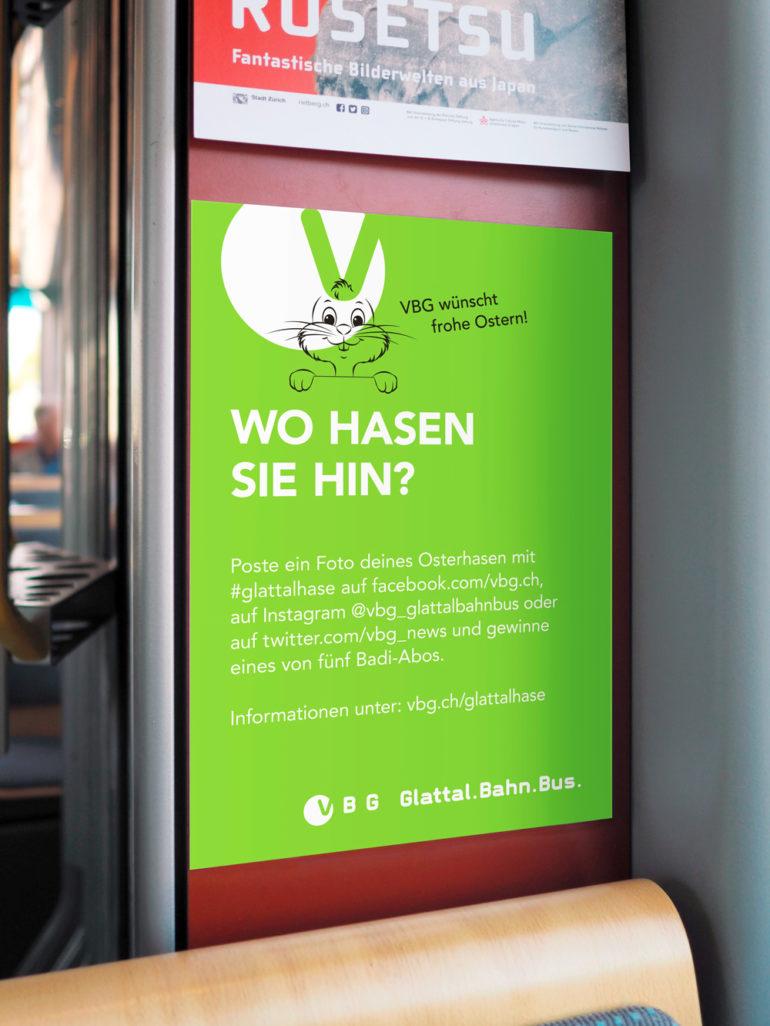 Klassische Werbung Plakat Hängekarton Promotion Gewinn Kommunikationsagentur Zürich Werbung